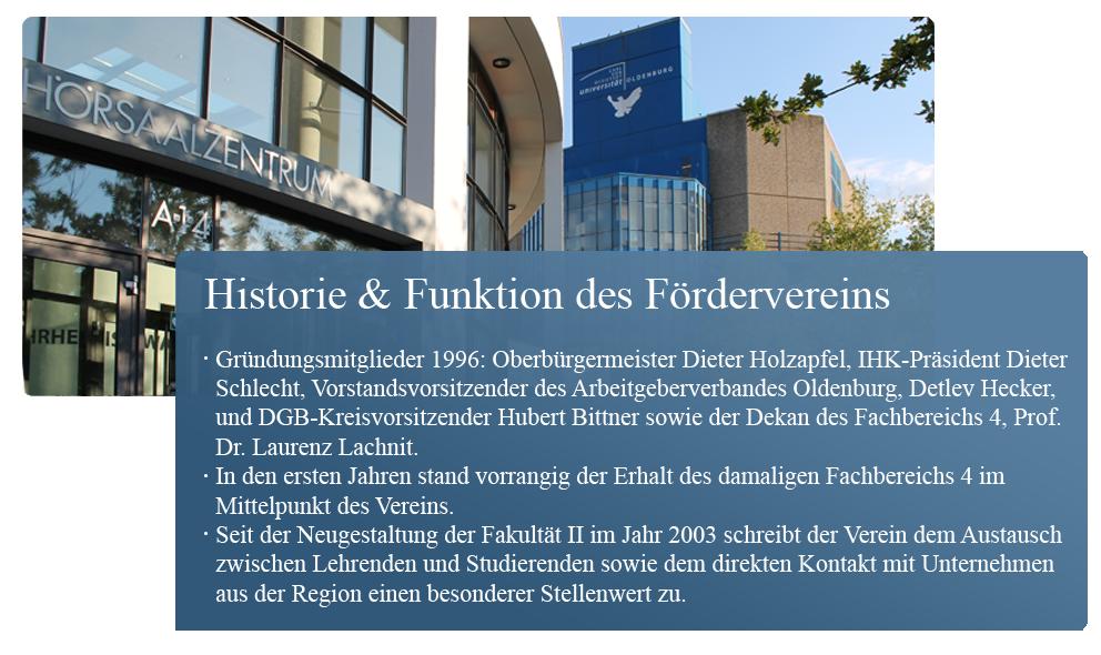 Historie und Funktion des Foerdervereins